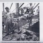 Wounded evacuated from Morobe on Karu Maru. NEW GUINEA 1943
