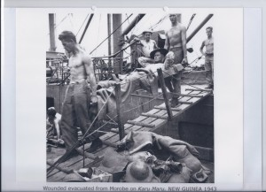 Wounded evacuated from Morobe on Karu Maru. NEW GUINEA 1943