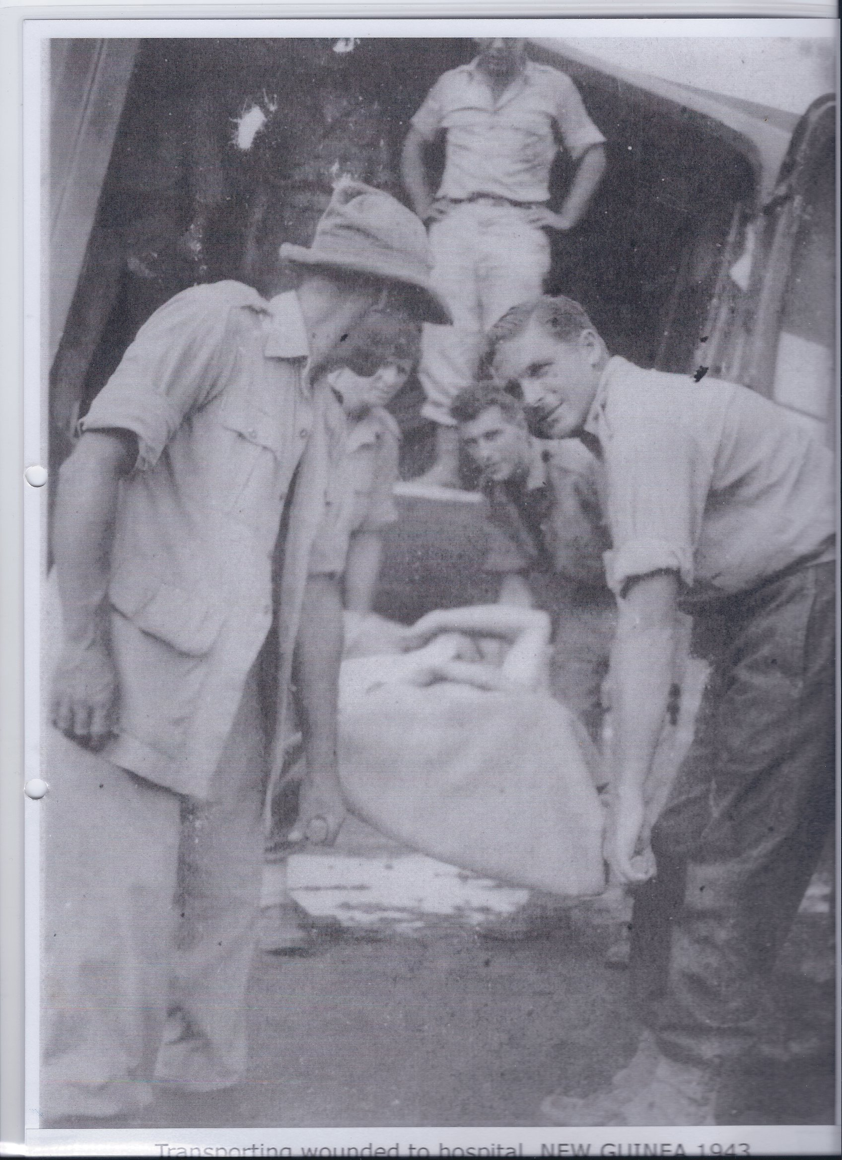 Transporting wounded to hospital NEW GUINEA 1943