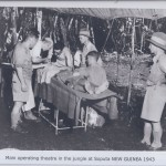 Main operating theatre in the jungle at Soputa NEW GUINEA 1943