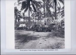 Evacuation Post Dreger Harbour. NEW GUINEA 1943