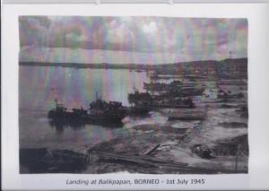 Landing at Balikpapan, BORNEO - 1st July 1945