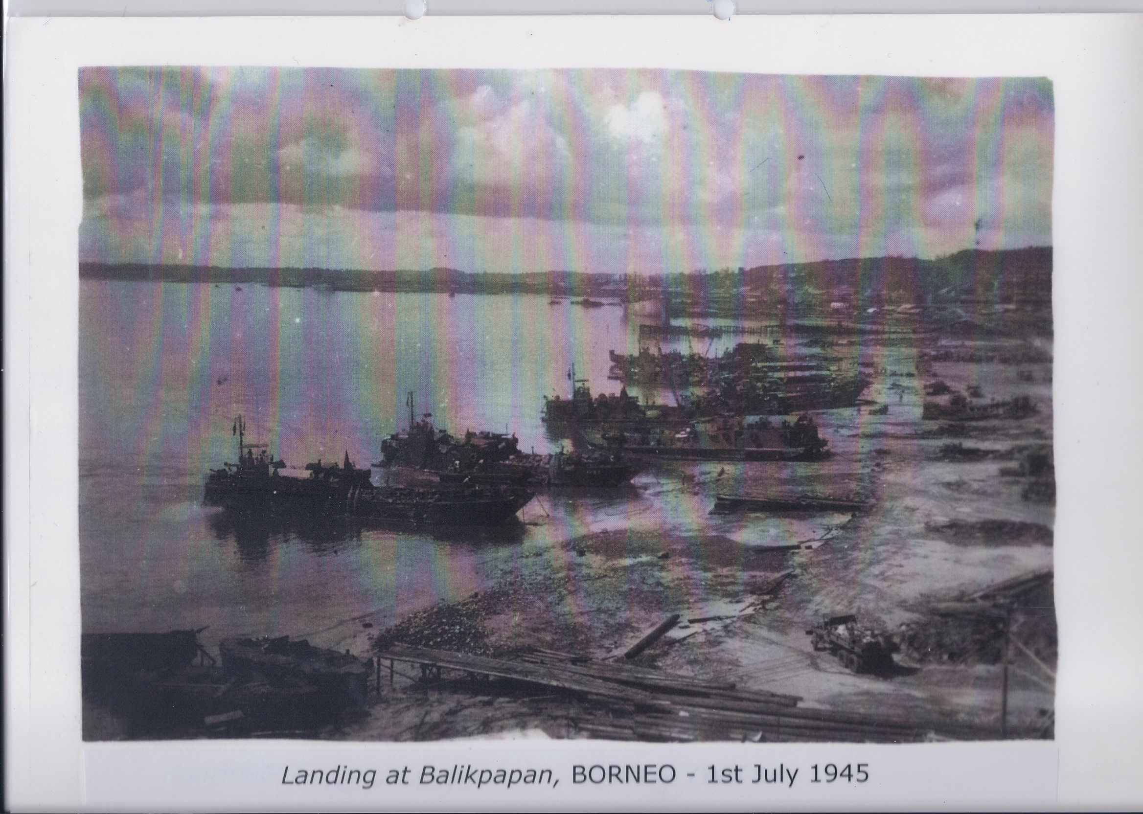 Landing at Balikpapan, BORNEO - 1st July 1945