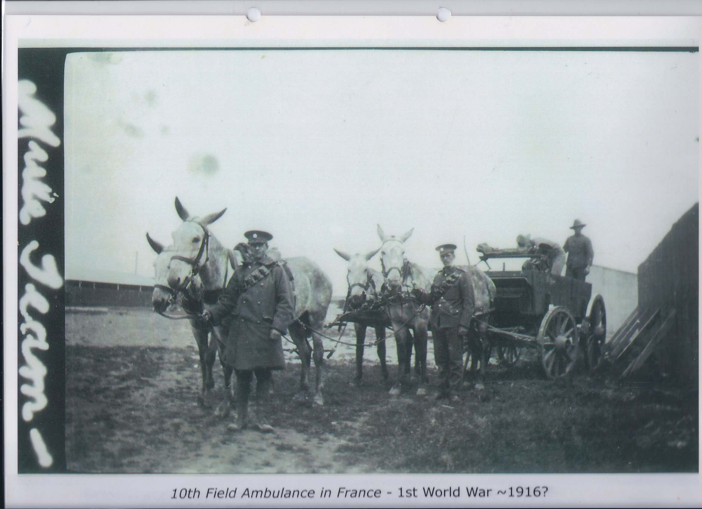 10th Field Ambulance in France - First World War 1916